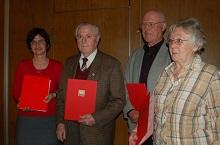 dritter von links: Manfred Kraft † bei der Ehrung 2010